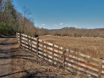 New River Bike Trail. The New River Trail in southern Virginia is a rail-trail for biking, hiking and horseback riding with many trestles crossing the New River Stock Photos