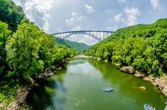New River Bridge Scenic Royalty Free Stock Photos