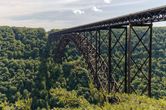 New River Gorge Bridge. The 3030 ft long New River Gorge Bridge in Fayetteville, West Virginia Royalty Free Stock Photos