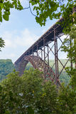 New River Gorge Bridge. The bridge over the New River Gorge in West Virgina is the fourth longest steel single arch bridge in the world Royalty Free Stock Image