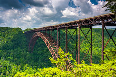 The New River Gorge Bridge, seen from the Canyon Rim Visitor Cen Stock Photo