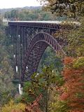 New River Gorge Bridge West Virginia fall foliage. Tallest bridge in US fall foliage West Virginia New River Gorge stock image