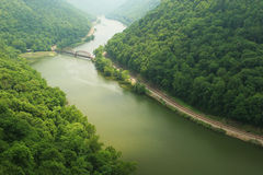 New River Gorge Scenic. A scenic view of the New River in West Virginia Royalty Free Stock Photo