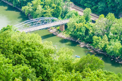 New river gorge  scenics. New river gorge scenics in mountains Stock Image