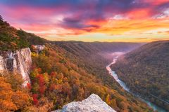New River Gorge, West Virginia, USA stock photography