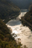 New River from Hawks Nest Overlook Stock Image
