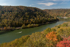 New River from Hawks Nest Overlook Stock Photos