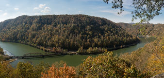 New River from Hawks Nest Overlook Royalty Free Stock Photography