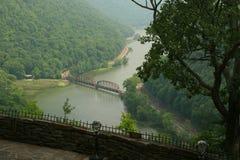 New River Overlook. Hawk's Nest State Park West Virginia Overlook of New River Stock Photography