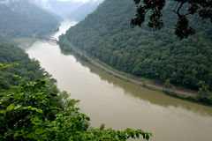 New River, West Virginia on a rainy day Royalty Free Stock Images