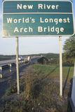 New River - World's Longest Arch Bridge Stock Photo
