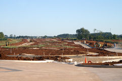 New Road. Expansion Under Construction in Indurstrial Park royalty free stock photo