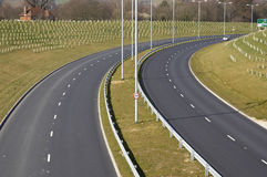 New Road. A new road in the south of England Stock Image
