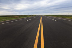 New road along a beach. A new road along the beach of Panjin, northeast China Stock Images