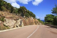 New road around the hotel Raffles Praslin Stock Image