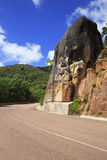 New road around the hotel Raffles Praslin Royalty Free Stock Photos