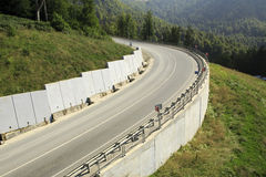 New road in the Caucasus mountains. Of Krasnaya Polyana Royalty Free Stock Photos