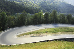 New road in the Caucasus mountains. Of Krasnaya Polyana Royalty Free Stock Image