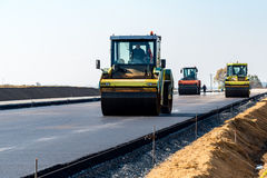New road construction Stock Image