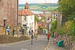New road down to Robin Hoods Bay Stock Photos