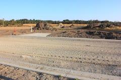 New road excavation Stock Photo