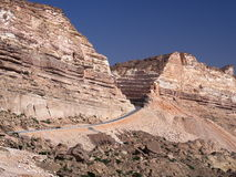 New road from Hasik to Shuwaymiyah. Dhofar region, Oman Stock Photos