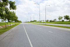 New road and infrastructure use for goverment service transportation Stock Photo