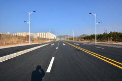 New road and infrastructure use. For goverment service transportation Royalty Free Stock Photo