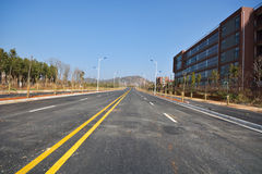 New road and infrastructure use Stock Image