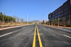 New road and infrastructure use. For goverment service transportation Stock Photos