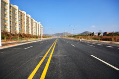 New road and infrastructure use. For goverment service transportation Royalty Free Stock Photography