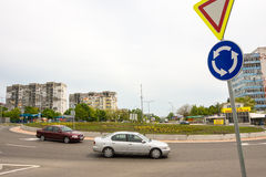 The new road junction in Burgas, Bulgaria Stock Photography
