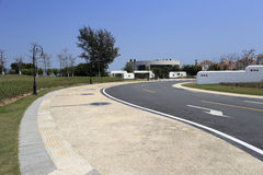 New road in zhangzhou port Royalty Free Stock Images