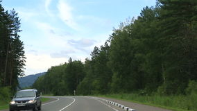 New roads Altai Krai. Stock Photography