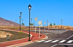 New roads in a development area Royalty Free Stock Photography