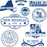 New Rochelle, New York Ensemble de timbres et de signes Photo libre de droits