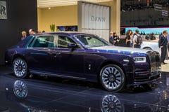 New Rolls Royce Bespoke luxury car. GENEVA, SWITZERLAND - MARCH 6, 2018: New Rolls Royce Bespoke luxury car reveiled at the 88th Geneva International Motor Show Stock Photography