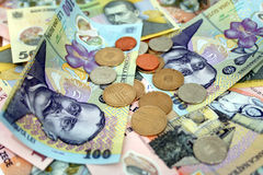 New romanian money Royalty Free Stock Photo