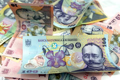 New romanian money Royalty Free Stock Photos