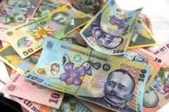 New romanian money Stock Image