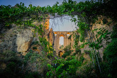 New Ronda bridge from gorge Royalty Free Stock Photo