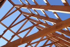 New roof being built Stock Image