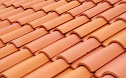 New roof with ceramic tiles Royalty Free Stock Image