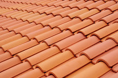 New roof with ceramic tiles Stock Image