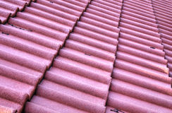 New roof with ceramic tiles Royalty Free Stock Photos