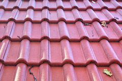 New roof with ceramic tiles Royalty Free Stock Photo