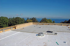 New roof construction Stock Photo