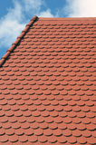 New roof fragment and sky Royalty Free Stock Images