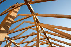 Free New Roof Frame Royalty Free Stock Photo - 23439335