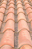 New roof with orange ceramic tiles Stock Photos